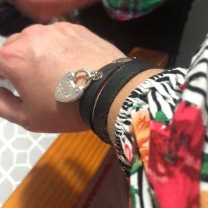 0986310f9 Tiffany & Co. Jewelry   Tiffany Narrow Leather Wrap Bracelet   Poshmark